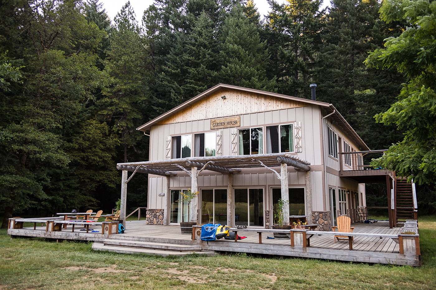 The Garden House at Paradise Lodge on the Wild & Scenic Rogue River